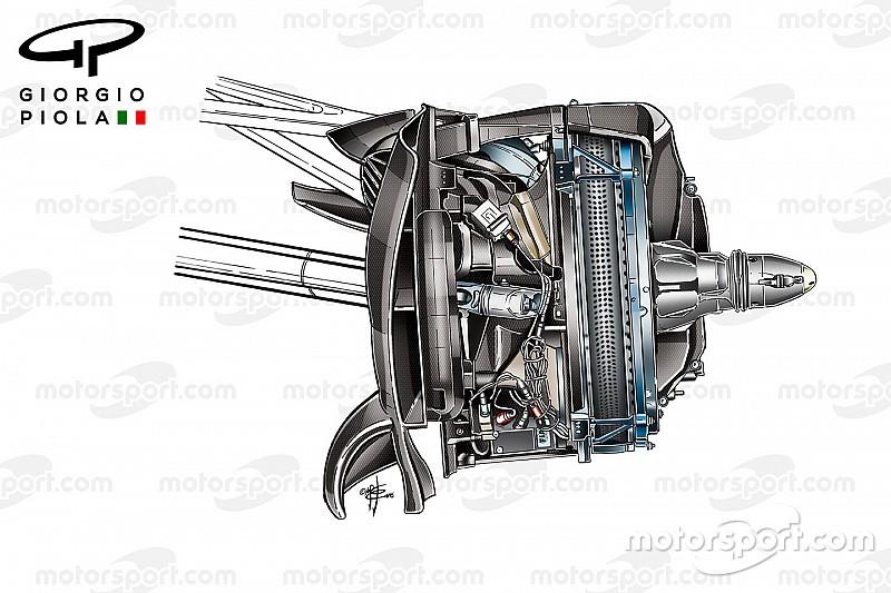 Onthuld: Mercedes experimenteert met voorremconfiguratie voor 2017