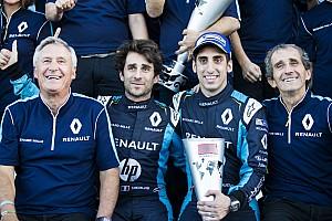 Formule E Réactions Renault e.dams comblé par