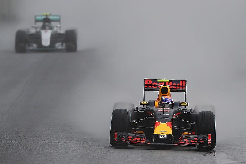 【F1ブラジルGP】猛追を見せたフェルスタッペン。「タイヤギャンブルは必要だった」