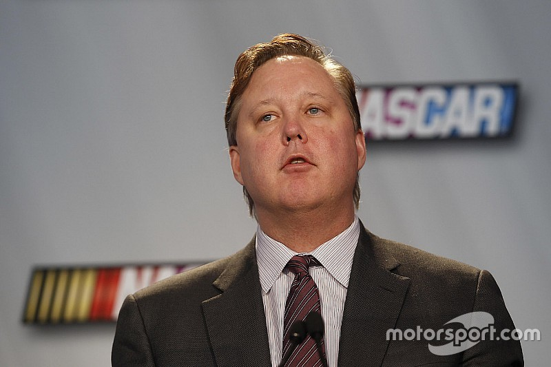 A contentious Brian France defends health of the sport, diversity