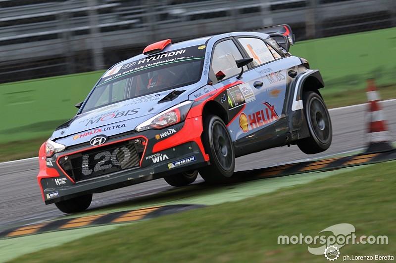 Dani Sordo lidera el Monza Rally Show con Valentino Rossi a un segundo