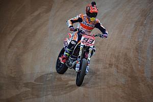 Other bike Practice report Marquez leads the way in Superprestigio Dirt Track practice