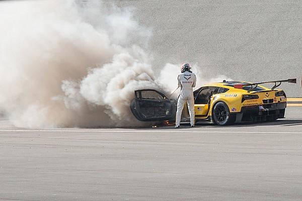 Galeria: Fassler escapa ileso após incêndio em Corvette