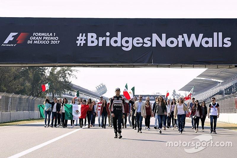 Pérez et le GP du Mexique unis face au mur de Trump