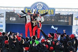 WRC BRÉKING WRC: fotókon az ünneplő Toyota-csapat