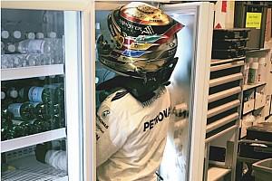 Hamilton se mete al refrigerador