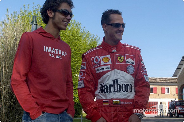 Ketika Schumacher terkejut dengan catatan waktu Rossi
