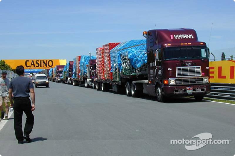 Prost, Ferrari y Sauber equipo llegan