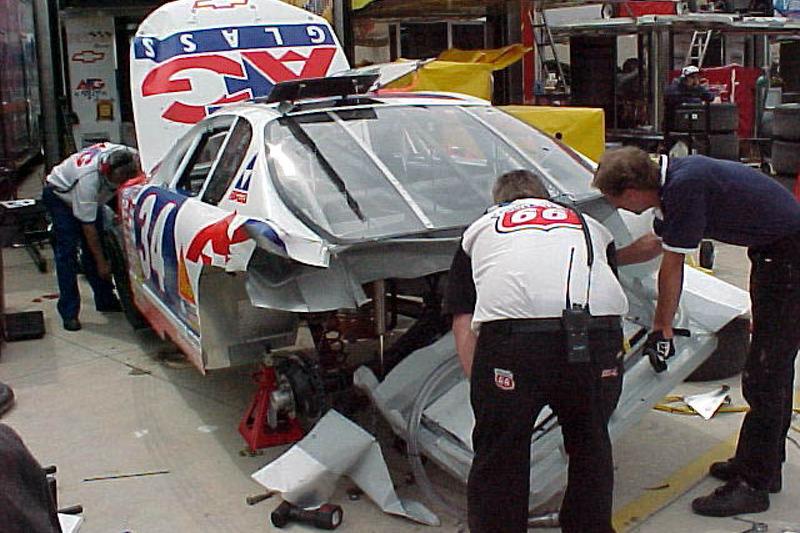 Rear of David Green's damaged car