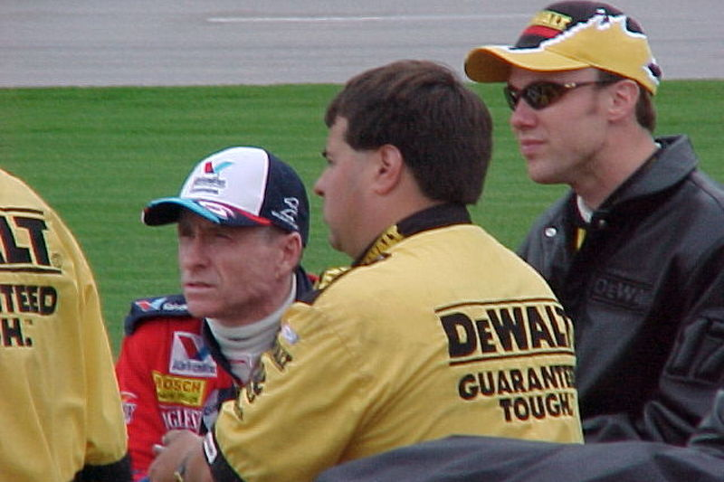 Mark Martin y su protegido, Matt Kenseth, antes de la clasificación