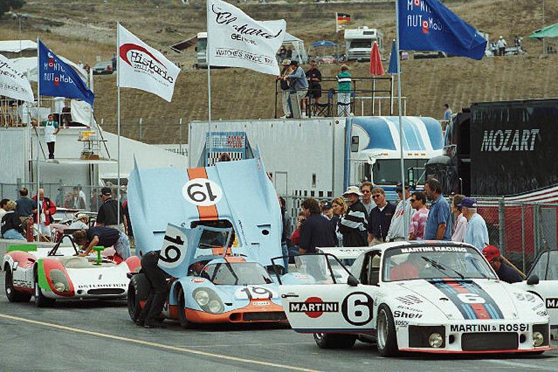 Porsches on Pit Row