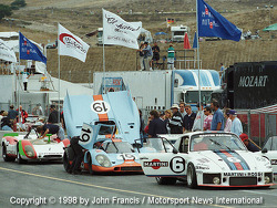 Porsches on Pit Row