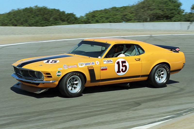 Parnelli Jones in his 1970 Mustang