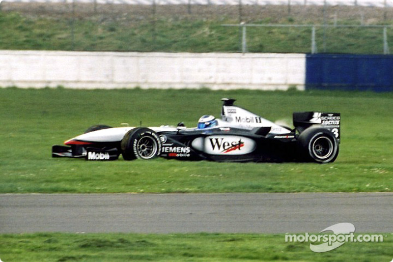 A spin by Mika Hakkinen