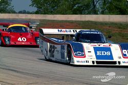 Adam Haut's Tiga Ferrari and Joe Hish's Intrepid GTP