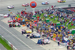 Race and pit action