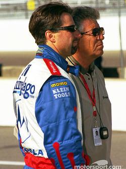 Michael Andretti and father Mario
