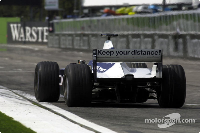Ralf Schumacher and the warning message