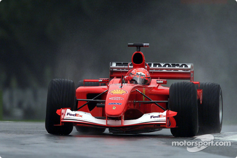 Michael Schumacher in the morning practice