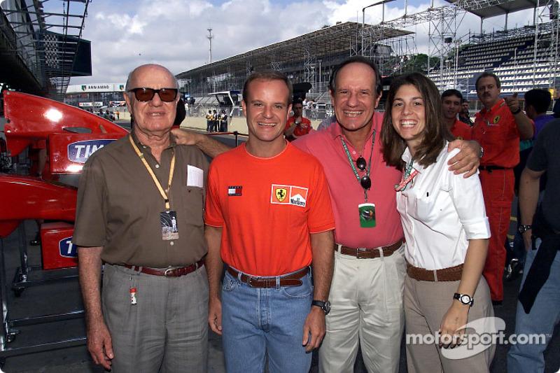 Rubens Barrichello with his family