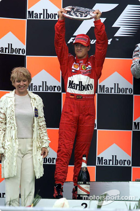 Michael Schumacher en el podio