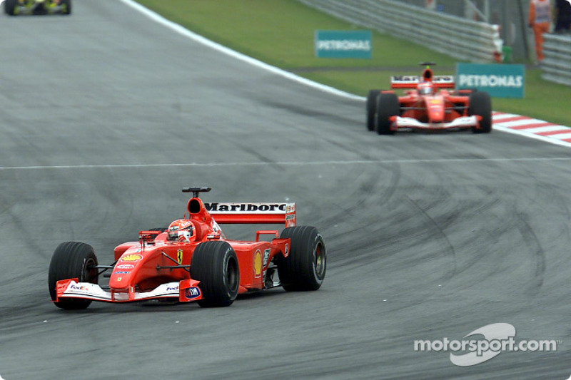 Michael Schumacher already in front