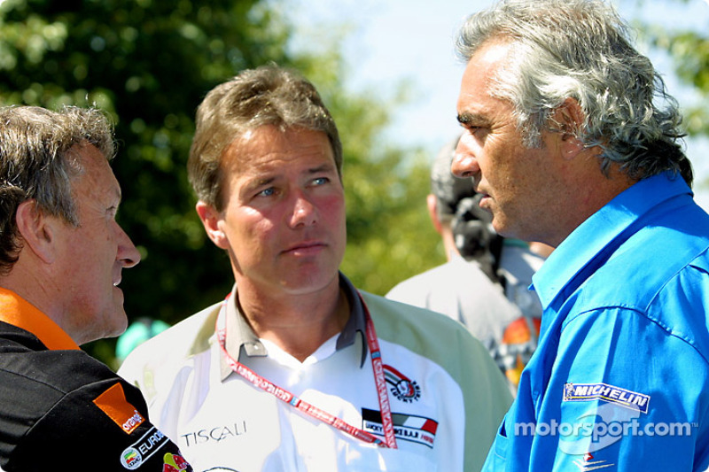 Craig Pollock, Tom Walkinshaw and Flavio Briatore