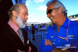 Flavio Briatore talks with Prince Michael of Kent