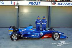 Jean Alesi et Gaston Mazzacane avec l'AP04