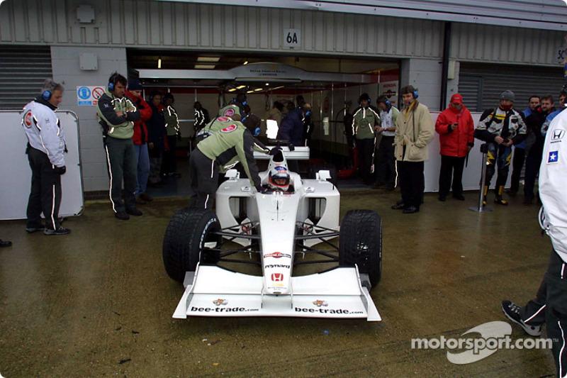 Olivier Panis in the BAR Honda 003