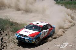 George Plsek et Alex Gelsomino dans une Audi Quattro