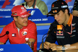 Thursday press conference: Michael Schumacher and Enrique Bernoldi