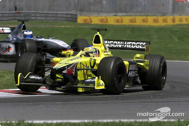 Jarno Trulli and Mika Hakkinen
