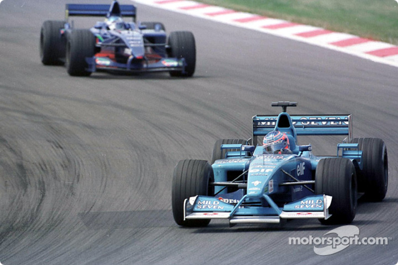 Jenson Button and Jean Alesi