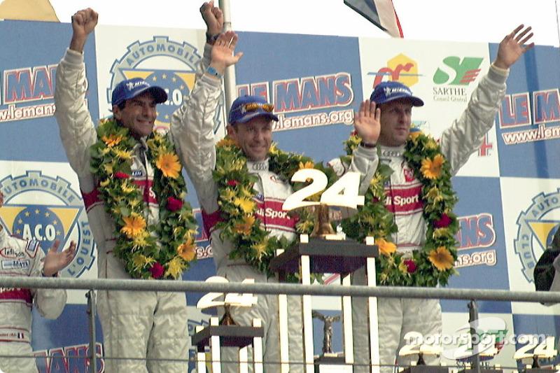 2001: Audi Emanuele Pirro, Tom Kristensen, Frank Biela