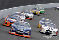 Mark Martin battles it out with Jeremy Mayfield and Terry Labonte