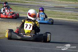 Yamaha Junior Supercan: 77-Michael Dittmer, 28-Josh Allison, 9-Graham Rahal, 73-Vaughn Horvath