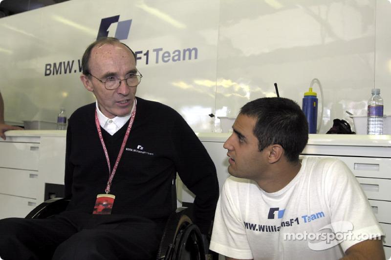 Frank Williams and Juan Pablo Montoya