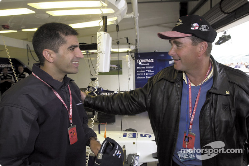 Marc Gené and Nigel Mansell