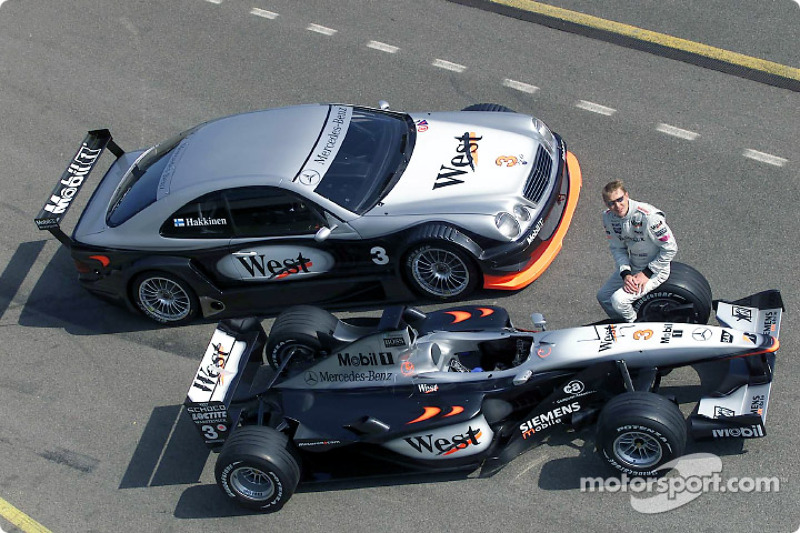 Mika Hakkinen completed 31 laps with the AMG Mercedes CLK-DTM in West McLaren Mercedes livery at Brn