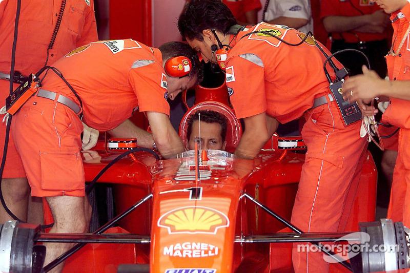 Michael Schumacher between the two starts