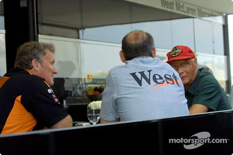 Tom Walkinshaw, Ron Dennis and Niki Lauda