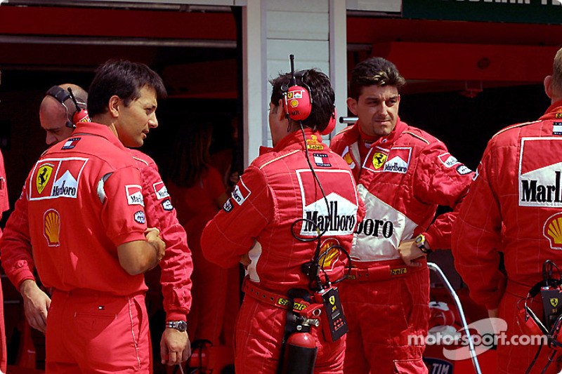 Ferrari getting ready for the race