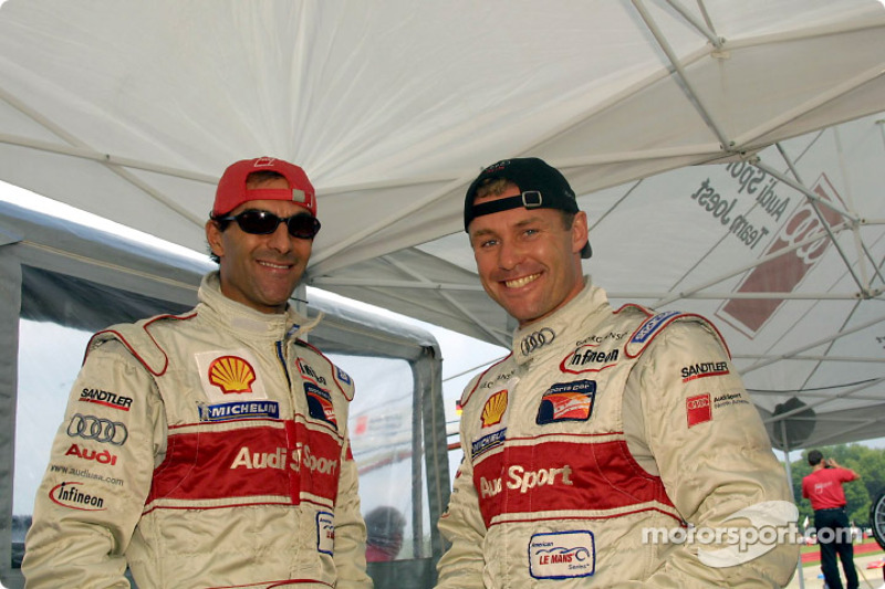 Emanuele Pirro and Tom Kristensen