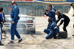 Saleen exits the pits