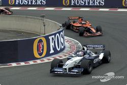 Juan Pablo Montoya in front of Jos Verstappen