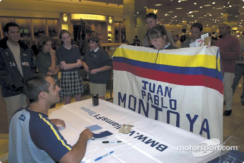 Autograph session for Juan Pablo Montoya