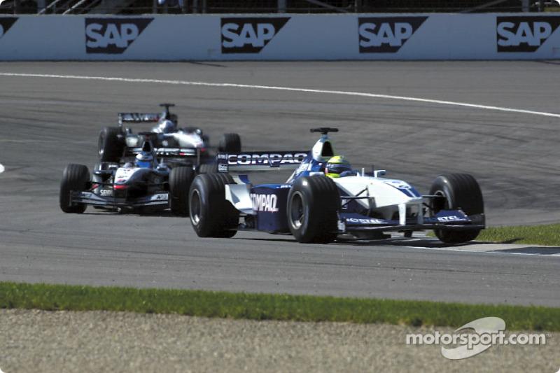 Ralf Schumacher in front of Mika Hakkinen