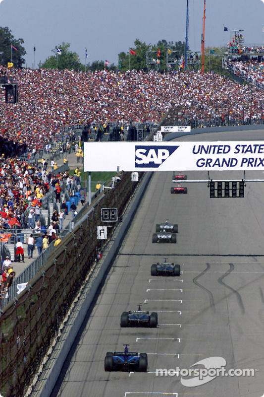 A view of the main straight