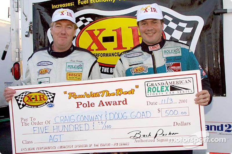 Craig Conway and Doug Goad claimed the AGT class X-1R pole award